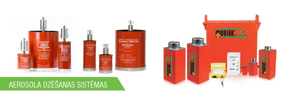 Vadītājiem ugunsaizsardzības sistēmas aerosola dzēšanas sistēma