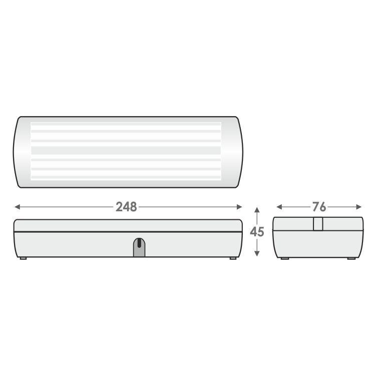 LED evakuācijas avārijas apgaismojums rasējums 1