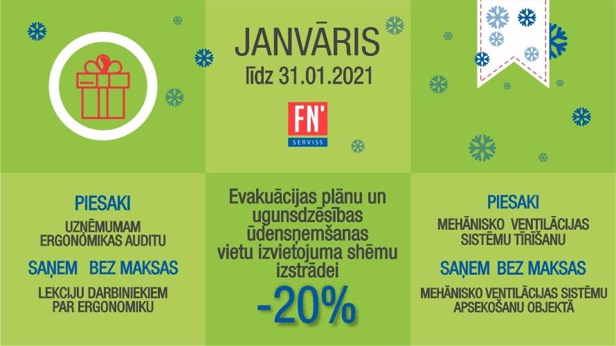 Īpašais piedāvājums pakalpojumiem - janvārī