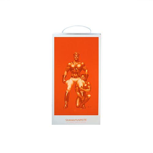 Oranžs ugunsdzēsības pārklājs somā līderis