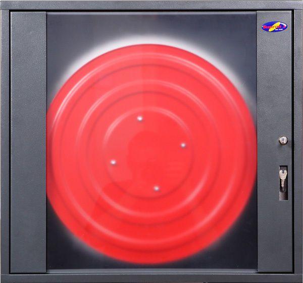Melna stiklota ugunsdzēsības krānu kaste