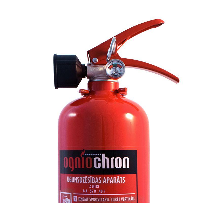 Sarkans F klases ugunsdzēsības aparāts