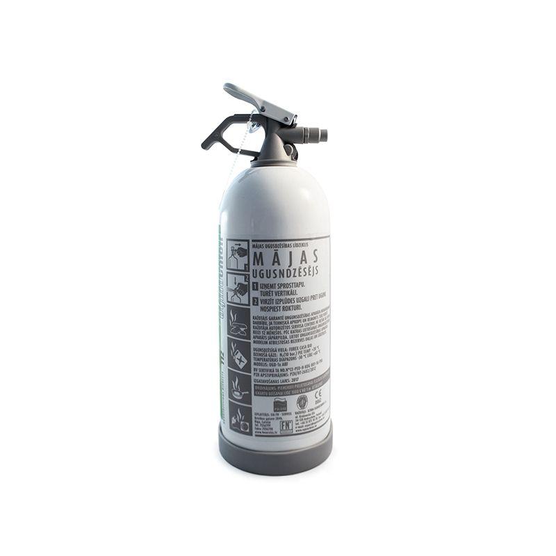 Balts F klases ugunsdzēsības aparāts