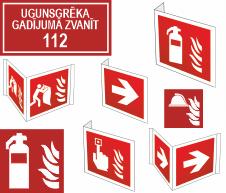 Luminiscējošas Ugunsdrošības uzlīmes un zīmes