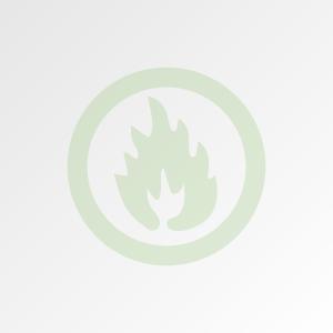 Ugunsdrošība zaļa liesmas ikona