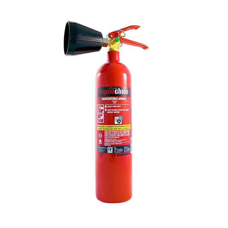 Sarkans ogļskābais ugunsdzēsības aparāts bez trubas