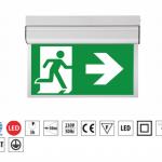 OXIMIA LED evakuācijas un avārijas apgaismojums, 3 stundas, (300x150mm)