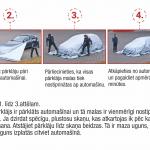 Ugunsdzēsības pārklājs automašīnu dzēšanai - Lietošanas instrukcija