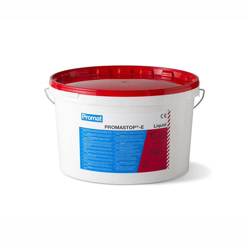 Ugunsdrošs kabeļu pārklājums PROMASTOP 12.5kg plastmasas spainī.