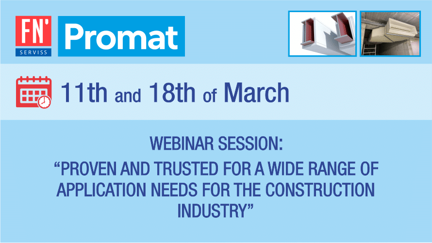 Webinar session: PROMAT - proven and trusted for a wide range of application needs for the construction industry.