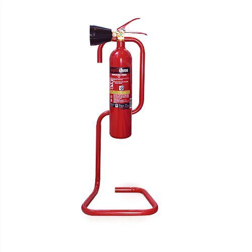 Sarkans statīvs ogļskābās gāzes ugunsdzēsības aparātam