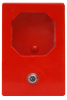 sarkana plastmasas atslēgu kastīte vienai atslēgai