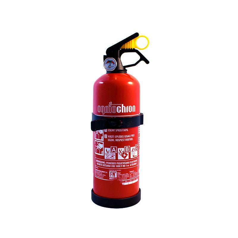 Sarkans pulvera ugunsdzēsības aparāts bez trubas