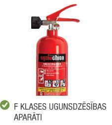 Kategorija ugunsdrošība F klases ugunsdzēsības aparāti