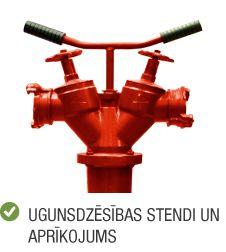 Kategorija ugunsdrošība ugunsdzēsības stendi un aprīkojums
