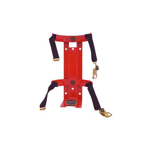 Sarkans transporta stiprinājums ugunsdzēsības aparātam