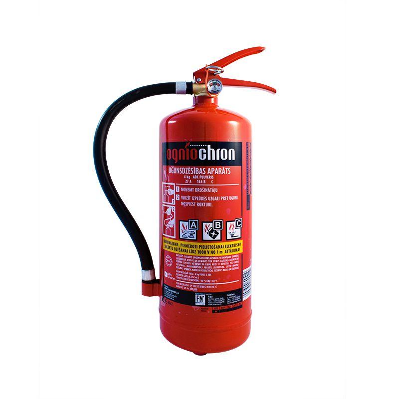 Sarkans pulvera ugunsdzēsības aparāts