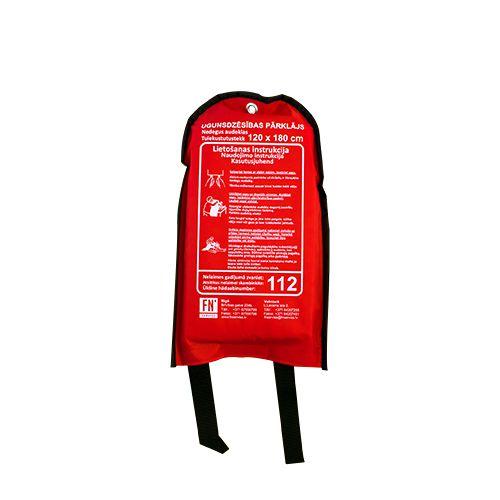 Sarkana soma ar ugunsdzēsības pārklāju attālināts 180