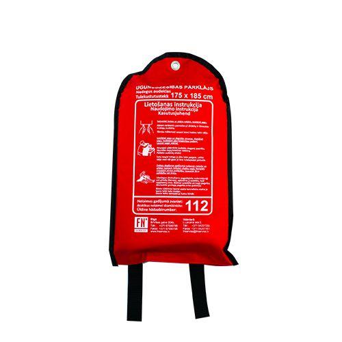 Sarkana soma ar ugunsdzēsības pārklāju attālināts 175