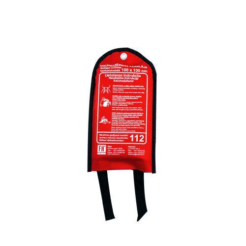 Sarkana soma ar ugunsdzēsības pārklāju attālināts 100