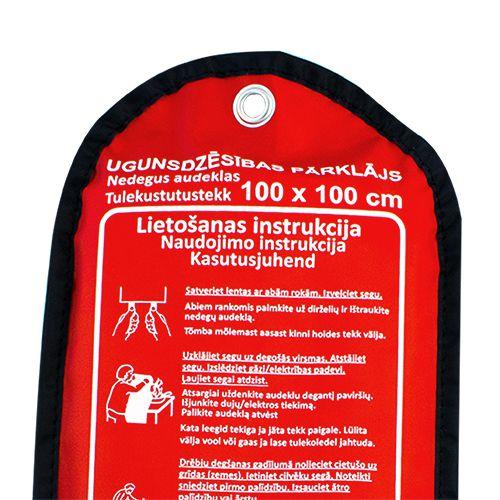 Sarkana soma ar ugunsdzēsības pārklāju pietuvināts 100