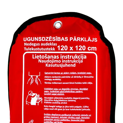 Sarkana soma ar ugunsdzēsības pārklāju pietuvināts 120