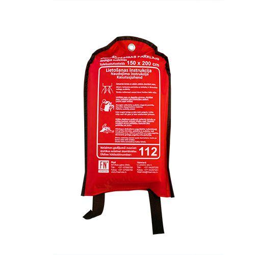 Sarkana soma ar ugunsdzēsības pārklāju attālināts 150