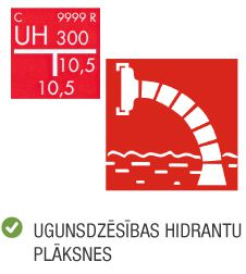 Produktu kategorija uzlīmes ugunsdrošības hidrantu norādes