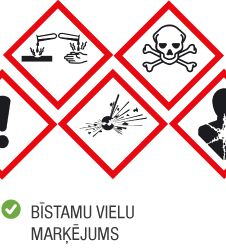 Kategorija uzlīmes bīstamu vielu marķējumu uzlīmes
