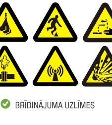 Produktu kategorija uzlīmes brīdinājuma uzlīmes
