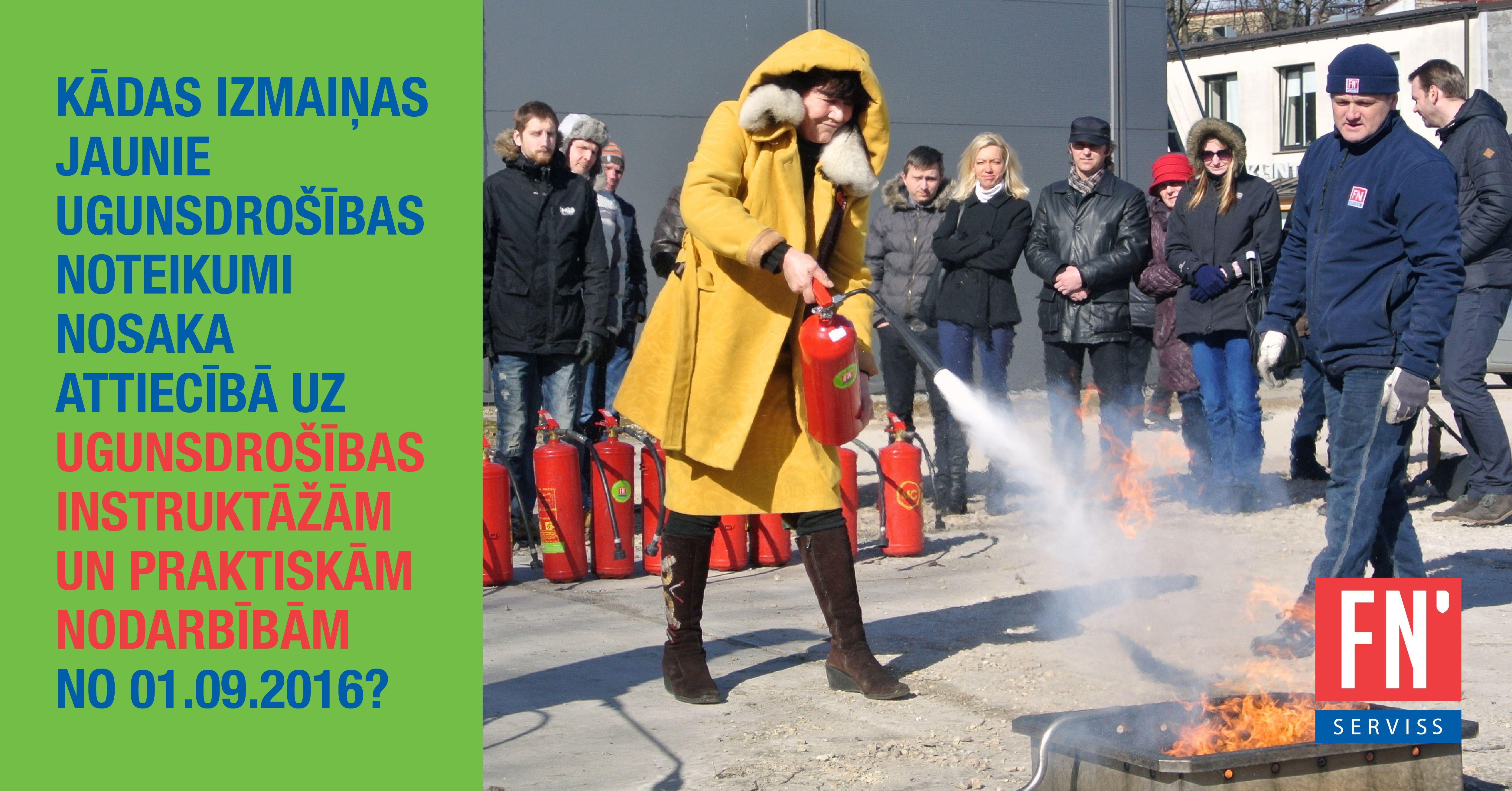 Lapa ugunsdrošības noteikumu prasības ugunsdrošības instruktāžām