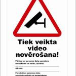informatīva uzlīme videonovēršana un info