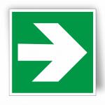 Luminiscējoša uzlīme, zīme