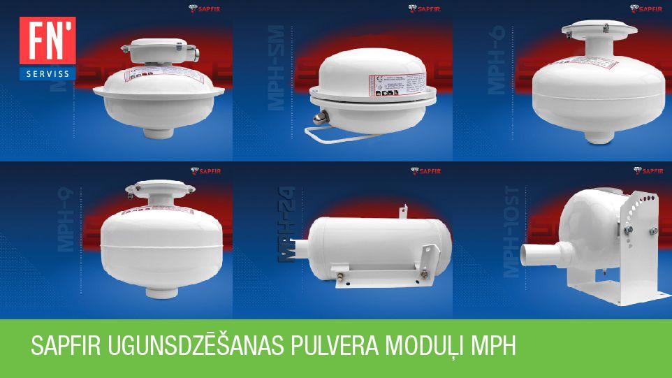 Balti ugunsdzēšanas pulvera moduļi